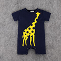 Cartoon Baby Romper Giraffe Short Sleeve Cute Clothes Baby Girl One Pieces Jumpsuits Roupas De Bebe Infantil Baby Clothing