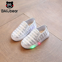 Size 21 30 LED Children Shoes Infant For Girl 5 Color Luminous Sneakers Girl Footwear Kids