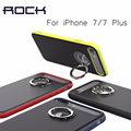 Para o iphone 7/7 plus phone cases rocha marca de luxo tpu + pc de volta caso da pele anel rotativo titular case para iphone 7 7 plus
