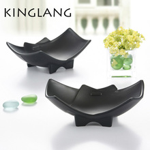Japanese imitation porcelain plastic melamine salad special shape bowl