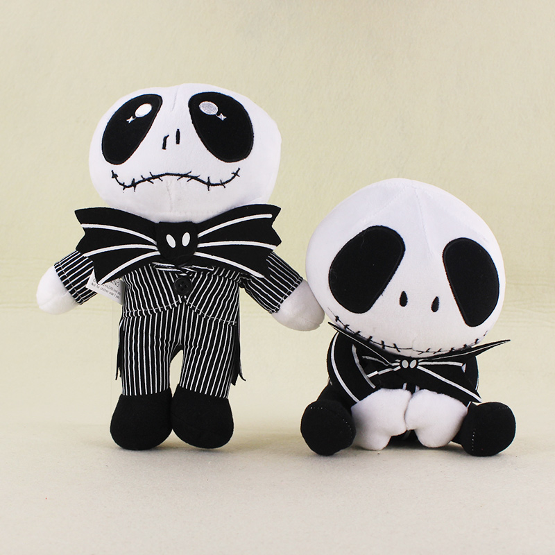 2 Styles Lovely The Nightmare Before Christmas Jack Skellington Skeleton Plush Soft Stuffed Animals Toys
