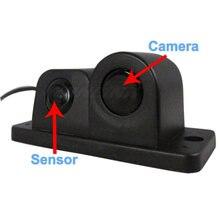 2015 Sonido de Alarma Del Coche CCD Cámara de Visión Trasera Sistema de Sensor de Aparcamiento de Vídeo Mostrar la Distancia y la Imagen en el Monitor de Ayuda Al Aparcamiento
