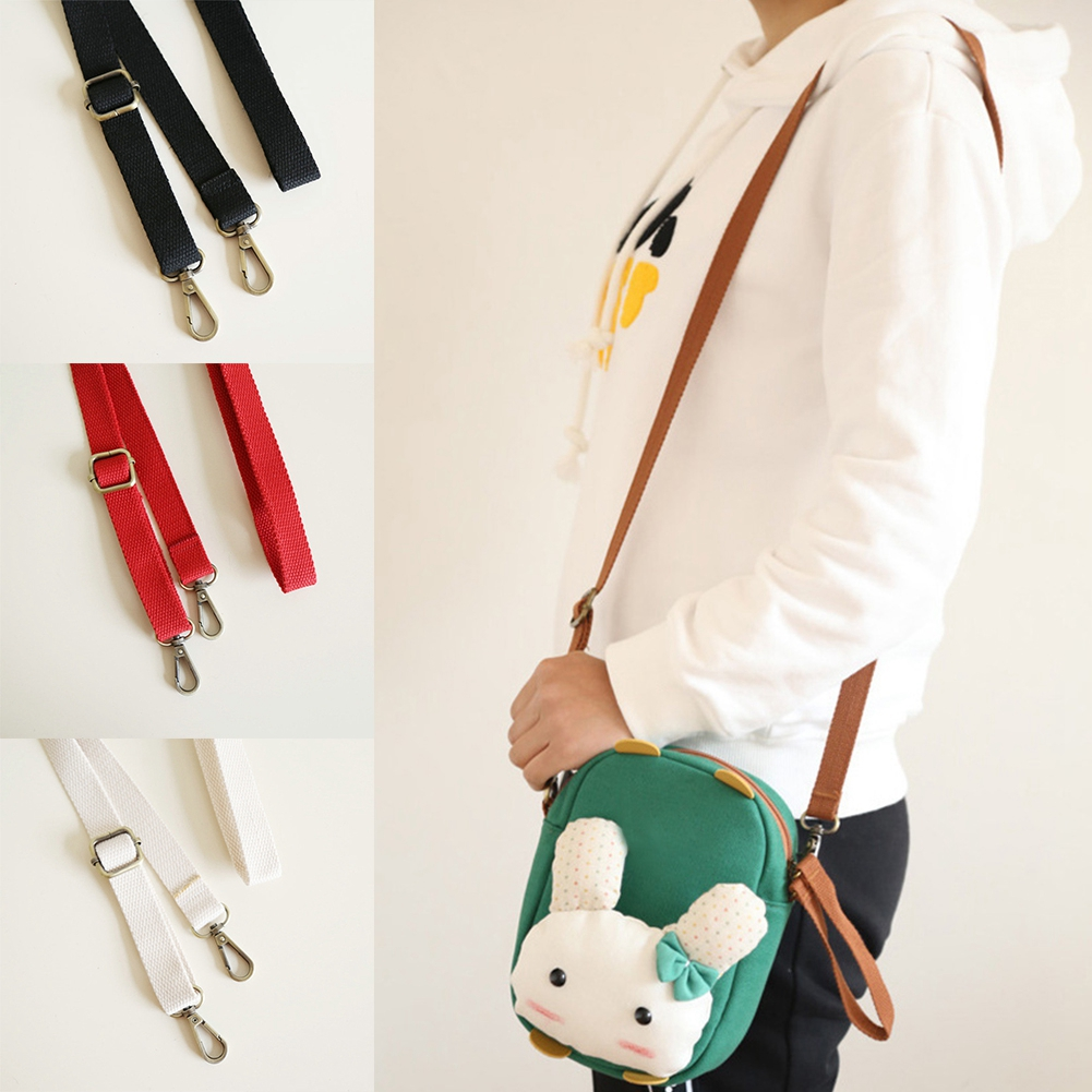 Webbing Handbag Canvas Bag Strap Clip On Replacement Shoulder Crossbody Belt Handle Candy Color Adjustable Straps 130cm