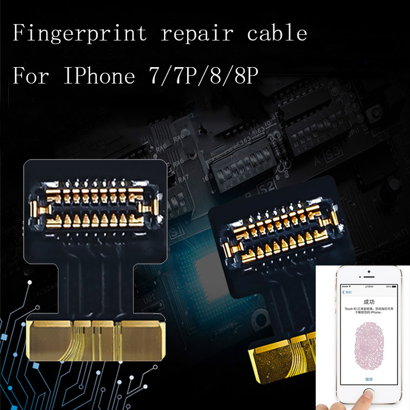 Fingerprint Flex Cable Touch ID Fingerprint Trouble FPC Connector Socket Flex Cable For Iphone 7 8 Touch ID Repair Flat Cable