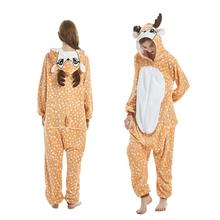 New Onesie Wholesale Animal Kigurumi Stitch Unicorn onesies Adult Unisex Women Hooded Sleepwear Winter Flannel Christmas Deer