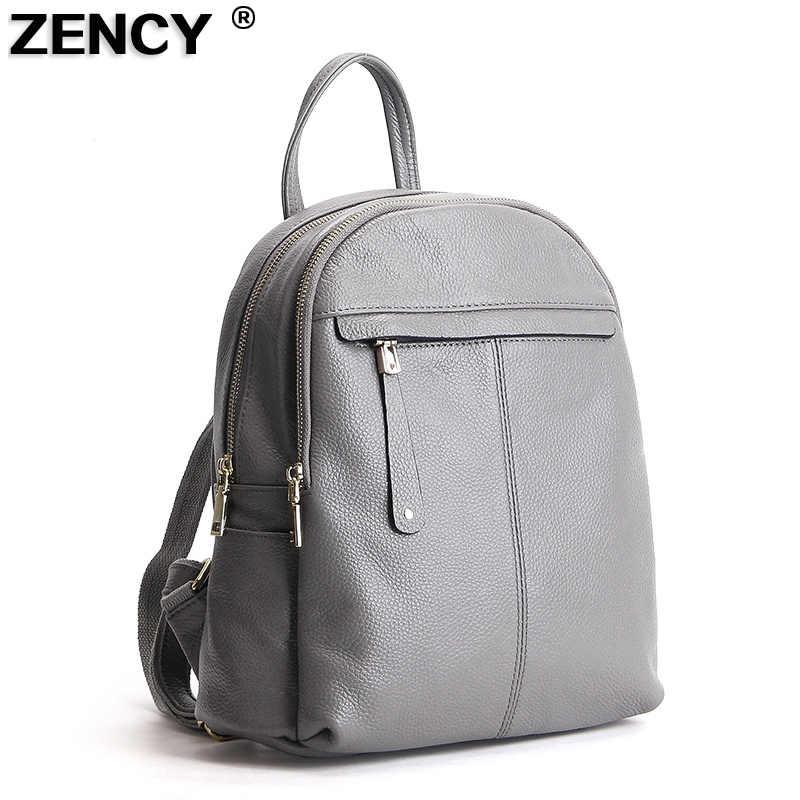 ZENCY, 9 цветов, модный, мягкий, из натуральной коровьей кожи, для женщин, для девушек, рюкзак, верхний слой, Воловья кожа, женская школьная сумка, рюкзак