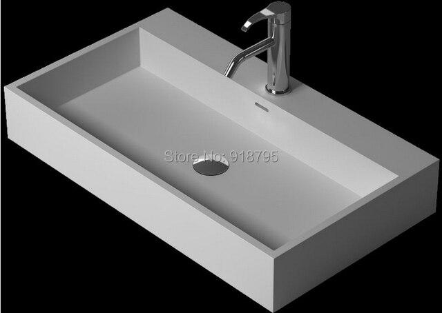 Vierkante Wasbak Badkamer : Badkamer corian onder teller wassen sink effen oppervlak