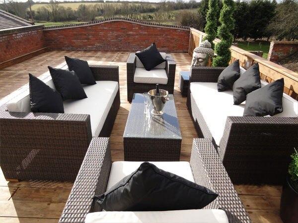 comercio garanta de aluminio muebles de jardn al aire libre sofs de mimbre sof seccional moderno