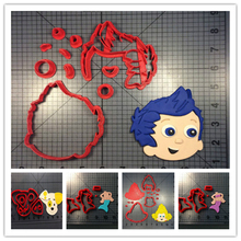 Custom Made 3D Printed Bubble Guppies Fondant Cupcake Top Cookie Cutters set