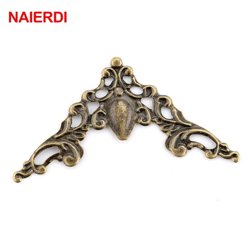 NAIERDI Angle Corner Brackets Gold Bronze 40mm Notebook Cover For Menus Pasting Box Photo Frame Furniture Decorative Protector