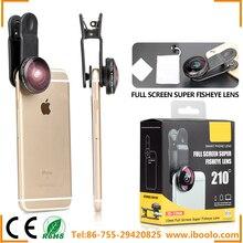 Для всех смартфонов объектив IB-10MM 10 мм Супер Рыбий глаз 210 градусов супер Широкий формат сотовый телефон Объективы для фотоаппаратов комплект бесплатная доставка