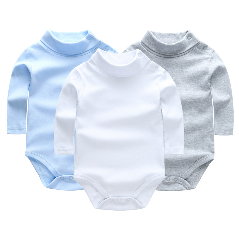 Autumn 3pcs/lot Baby Rompers Long Sleeves 100% Cotton Baby Clothing Turn-down Collar Overalls Baby Clothes for Girls Boy Costume baby clothes autumn winter baby rompers jumpsuit cotton baby clothing next christmas baby costume long sleeve overalls for boys