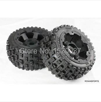 1/5 RC KM HPI BAJA 5B Off road race Buggy Rear Tire & Wheel set baja 5b ii front wheel off road tire assembly
