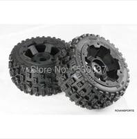1/5 RC KM HPI BAJA 5B Off road race Buggy Rear Tire & Wheel set
