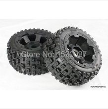 1/5 RC KM HPI BAJA 5B Off road race Buggy Rear Tire & Wheel set