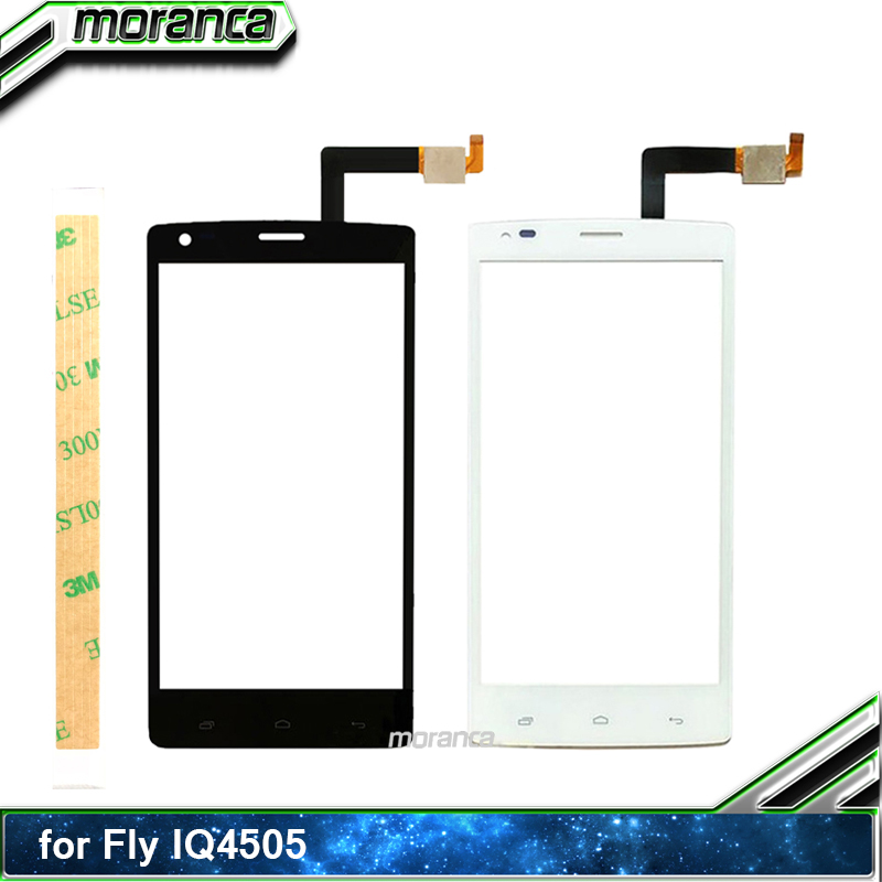 5.0 Touch for Fly IQ 4505 IQ4505 Quad Era Life 7 Touch Screen Digitizer Sensor Touchscreen Panel Front Glass Lens +3M Sticker