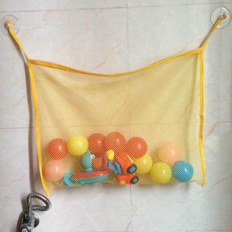 Новый всасывания дети Для ванной Ванна игрушки Детские аккуратные чашка Сумка Сетки Ванная комната контейнер Игрушечные лошадки Организат...