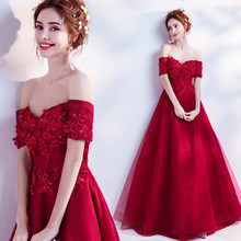 Backlakegirls Vintage Red Long Evening Dress Beaded Pearls Elegant  Embroidery Flowers Lace Evening Gowns 2018 Vestidos De Festa e133e3292774