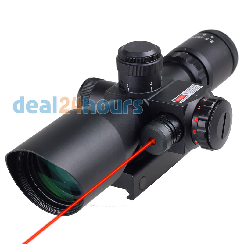 New Tactical Red Dot Laser hunting Sight 2.5-10X 40mm Scope Reflex Red / Green Reticle Mount Free Shipping hunting sniper m9 scope tactical red dot laser sight 2 5 10x 40mm scope cross optic reflex red green reticle for 20mm mount
