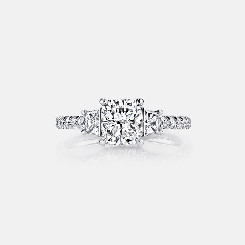 QYI 3 Ct coussin coupe simulé diamant bagues de fiançailles 925 bague en argent Sterling pour les femmes promesse de mariage bague bijoux de mariée
