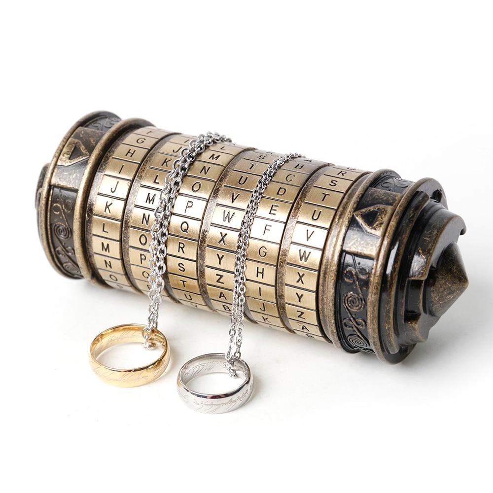 Puzzles jouets serrures Métalliques de mariage cadeaux du Jour de Valentine lettre Mot de Passe chambre Casier Intéressant Creative Romantique D'anniversaire