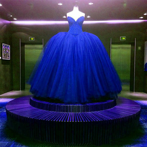 Image 2 - Red Sweetheart Wedding Dresses Beading Ball Gowns Corset Bridal Dresses Tulle Floor Length Vestido De Novia