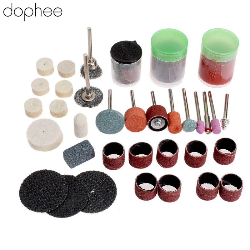 Dophee 75Pcs Mini Drill Dremel Accessories Rotary Polishing Grinding Cutting Carving Bits For Dremel Rotary Tool DIY Tools