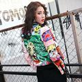 Bythenana das mulheres marca de moda inverno pesado dever ombro prego Fino Grafite jaqueta de algodão Pu do punk rebite curto-jacket w1847