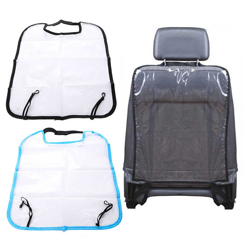For Children Kick Mat Mud Cleaner Waterproof Baby Backrest Cover Kids Car Auto Seat Protector Back Cover Transparent