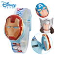 100% Подлинная Disney Бренда Часы Железный человек/Капитан Америка спортивные Часы цифровые часы 89004-61