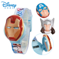 100% Genuine Disney Brand Watch Iron man/Captain America sports Watches digital watch 89004-61