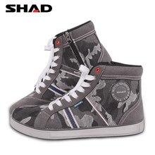 SHAD-Botas de motorista transpirables para hombre y mujer, calzado de moda informal para motorista