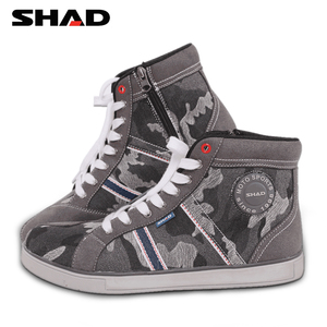 Image 1 - SHAD Fashion Casual Wear Motorbike Riding Shoes Motorcycle Boots Street Racing Boots Breathable Biker Boots