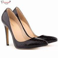 Kích Thước lớn Heel Thin Đen Màu Beige Khỏa Thân Vàng Cao Gót Giày cô dâu Toe Nhọn Phụ Nữ Ăn Mặc Bơm Red Giày Chân Nhọn SMYBK-028