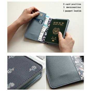 Flamingo Passport Covers Travel Accessories Creative PU Leather ID Bank Card Bag Men Women Organizers Business Holder Wallets