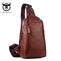 BULL CAPTAIN Genuine Leather Causal Business Messenger Bags Sac Luxury Brand Handbags Beach Travel Bag Shoulder