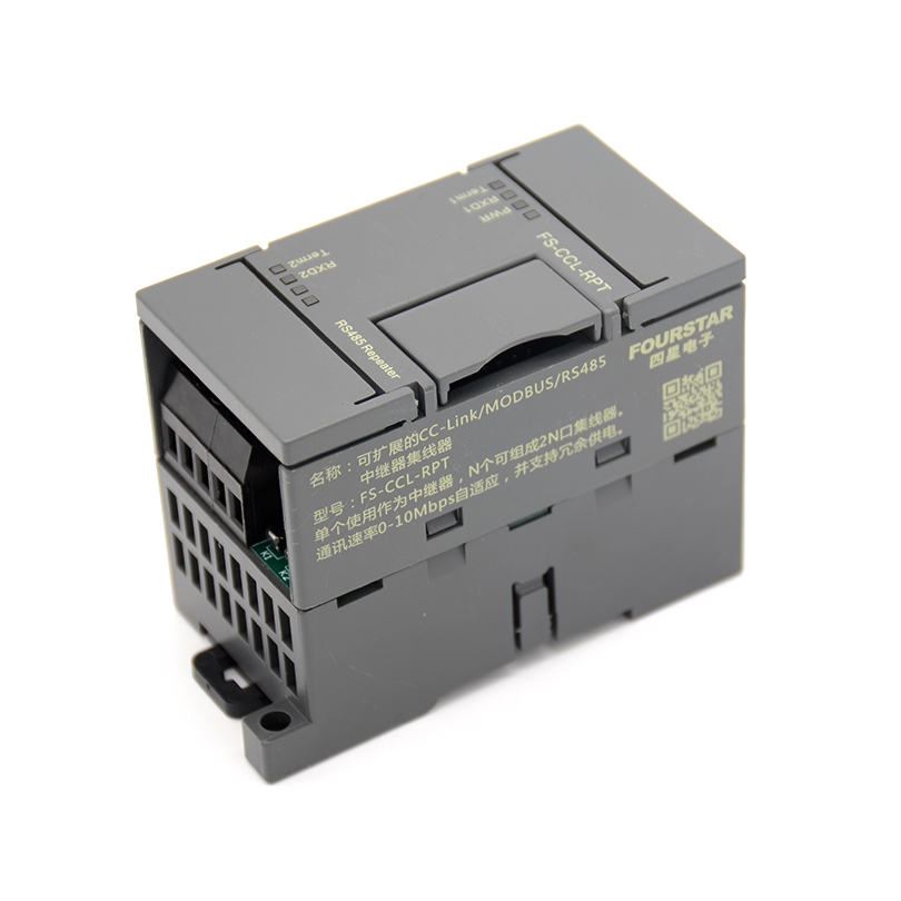 FOURSTAR Scalable CC Link Repeater Hub Single use as a repeater Ncan form a 2N port hub Communication rate 0 to 10Mbps Adaptive