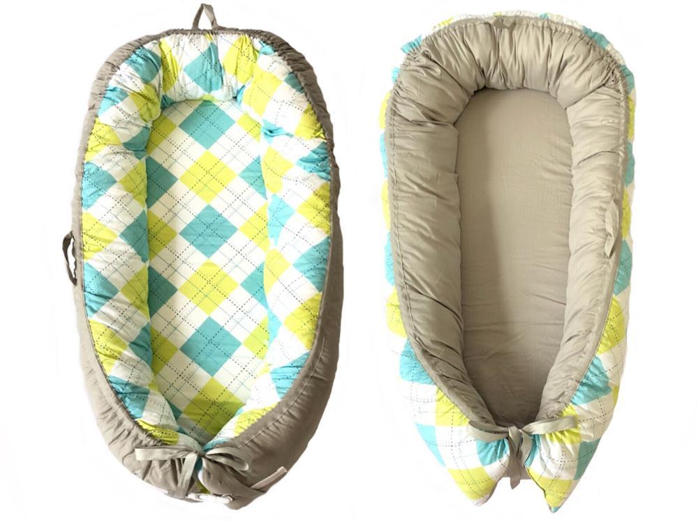 Разборные Детские гнезда кровать или малыша Размер гнезда, мята и совы, портативная кроватка, co спальное место babynest для новорожденных и малышей - Цвет: Colorful square