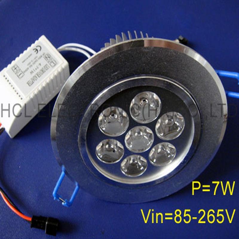 Hoge kwaliteit 7W LED-plafondlampen, 7w high power led downlight - LED-Verlichting