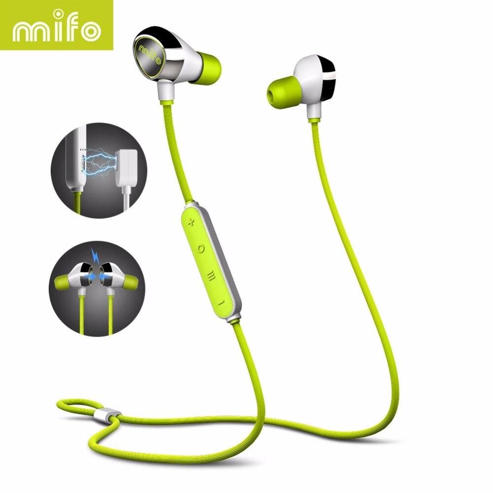 Mifo i8 Bluetooth наушники Беспроводной наушники Поддержка 4 музыки режим гарнитуры Магнитная Спорт стерео наушник для мобильного телефона