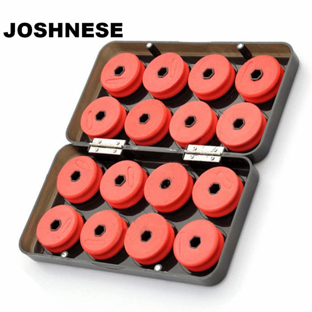 Joshnese 16 pçs placa de enrolamento de espuma linha de pesca eixo bobinas carretéis enfrentar caixa de linha de utilidade vermelha caixa de equipamento de pesca caixas caso