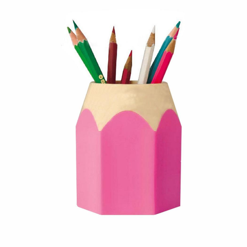 Creative Desktop Storage Box Pencil Head Shape Made Of ABS Plastic, Sturdy And Durable. Pen Holder
