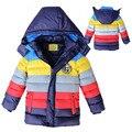 Новый год мальчик зимняя куртка миньонов Мальчики пальто детская одежда Теплое с капюшоном Дети Верхняя Одежда пальто мальчиков одежда