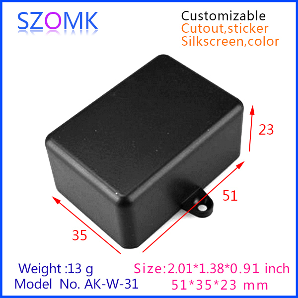 2 Pieces Free Shipping Wall Mount Electrical Enclosure Black Color Very Small Junction Box With