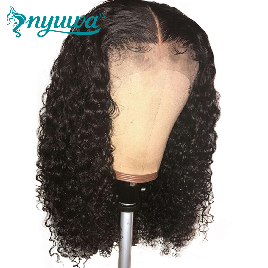 150% Density Silk Base Lace Front Human Hair Wigs Pre Plucked With Baby Hair Curly Brazilian Remy Hair Silk Base Top Wigs NYUWA