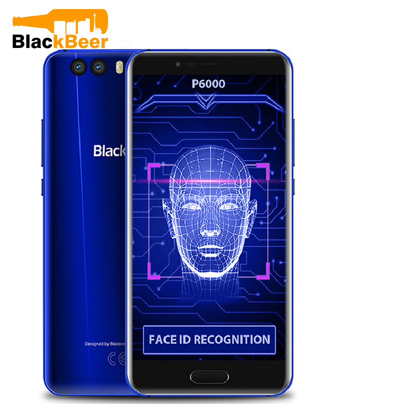 """Blackview P6000 Face ID Smartphone Helio P25 6180mAh Super Battery 6GB 64GB 5.5"""" FHD 21MP Dual Cams Android 7.1 4G Mobile Phone"""