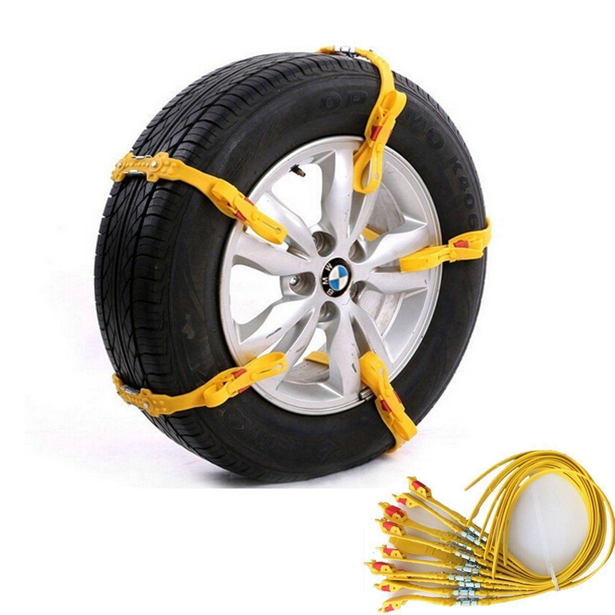 Voiture roue accessoires neige pneu anti-dérapant chaînes sécurité antidérapant universel 10 pièces
