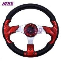 13 PU Steering Wheel 320MM Steering Wheel PU Sport Steering Wheel Racing Car Steering Wheel K8