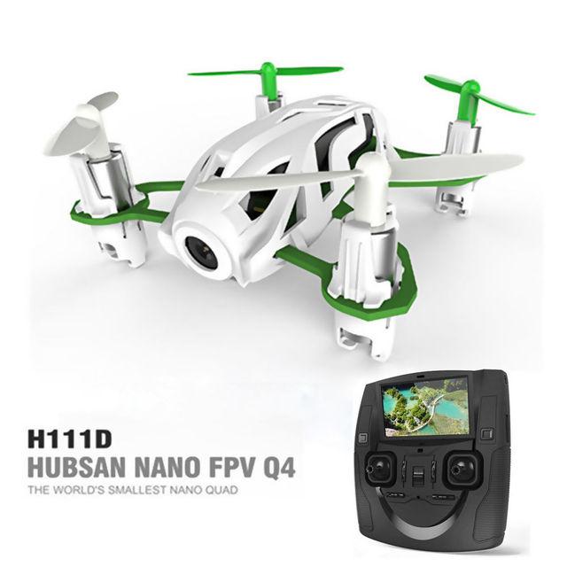 Nueva Original Hubsan NANO FPV Q4 H111D RC Quadcopter w/480 P HD Cámara y Headless Modo RTF