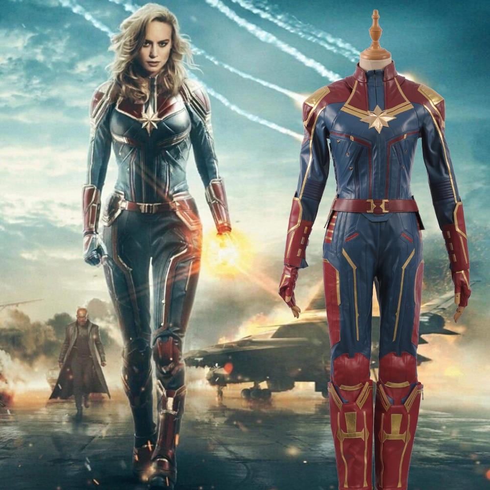 2019 captain / marvel carol danvers ms. marvel superhero cosplay
